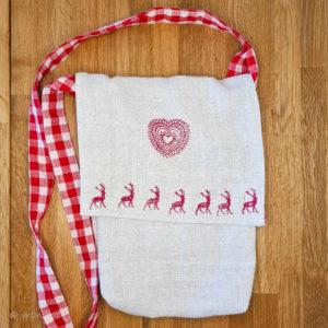 Tasche aus Leinen mit Innentasche aus Baumwolle
